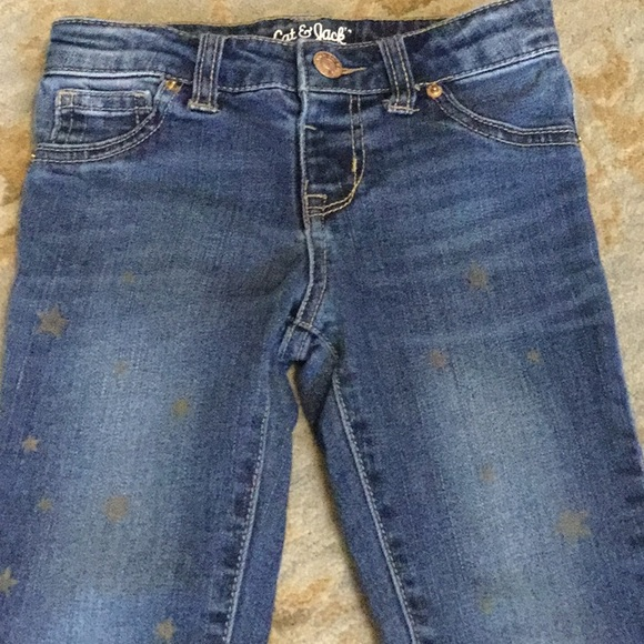 c9a87c1845fe1 Cat & Jack Bottoms | Cat Jack Size 5 Denim Star Jeggings | Poshmark
